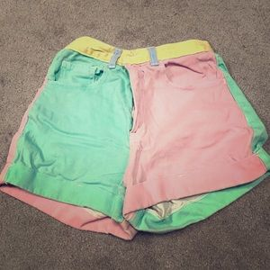 American Apparel Color Block Shorts